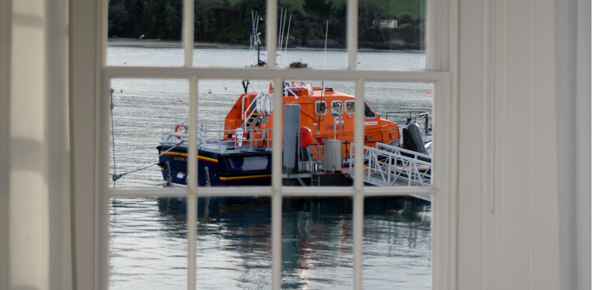 The Life Boat through the bedroom window