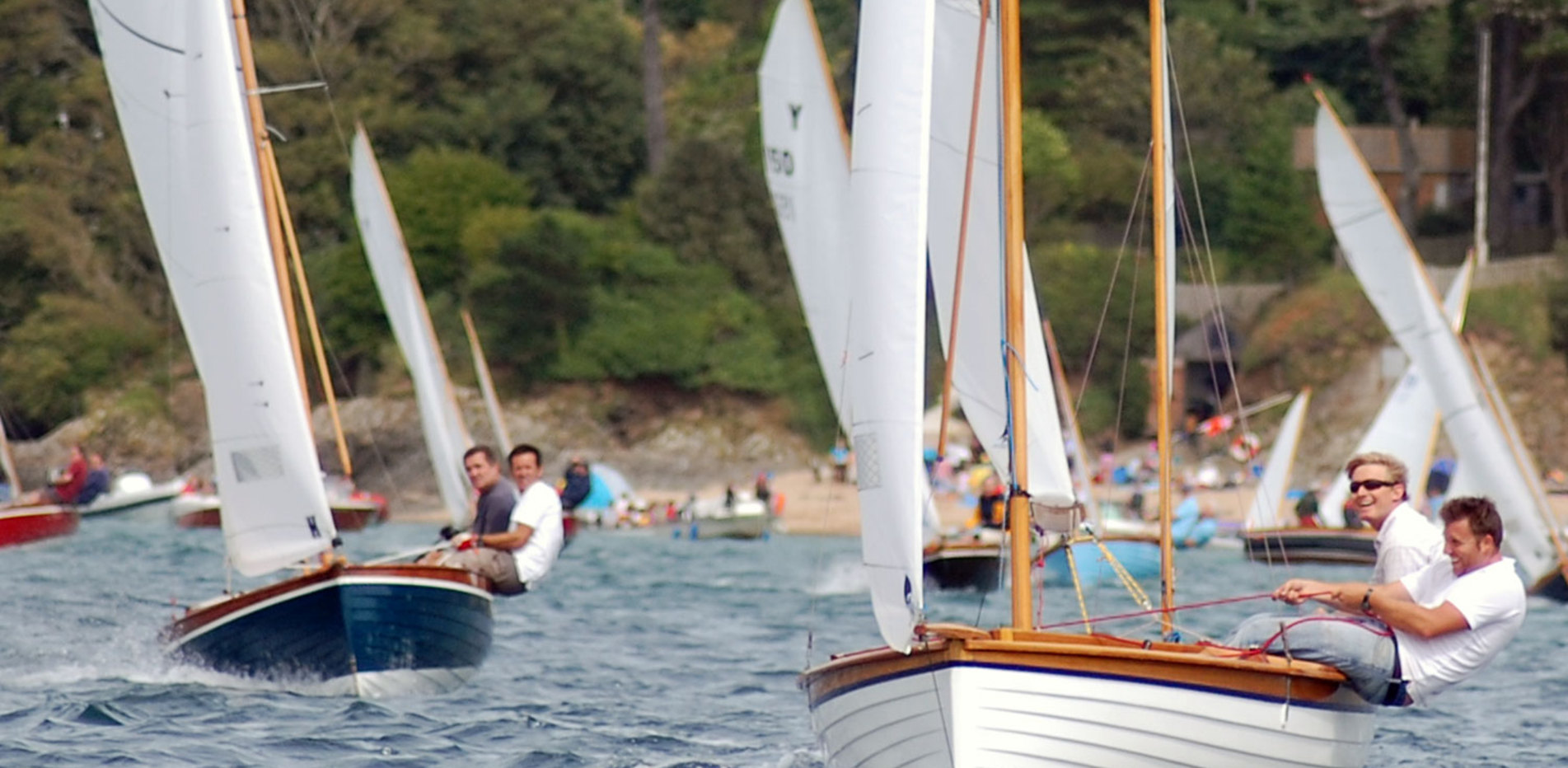 Yawls racing in Salcombe Harbour