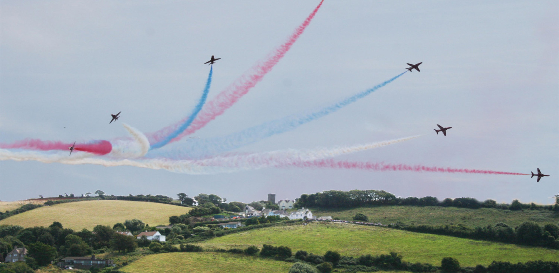 The Red Arrows display taken from the cottage